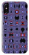 Bllue And Black Abstract #4 IPhone Case