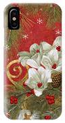 Blooming Christmas II IPhone Case