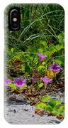 Blooming Cross Vines Along The Beach IPhone Case