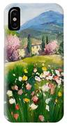 Blooming Tuscany Landscape IPhone Case