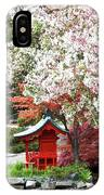 Blossoms Abound In The Japanese Garden IPhone Case