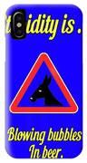 Blowing Bigstock Donkey 171252860 IPhone Case