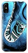Piano Keys In A Saxophone Blue 2 - Music In Motion IPhone Case