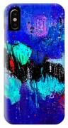 Blue Abstract 55698 IPhone Case