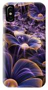 Blue And Gold Fractal Flowers IPhone Case
