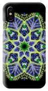 Blue And Green Flower Mandala IPhone Case