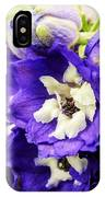 Blue And White Delphiniums IPhone Case