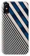 Blue And White Diagonals IPhone Case