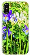 Blue And White Iris IPhone Case