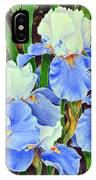 Blue And White Irises IPhone Case