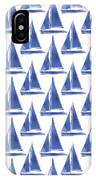 Blue And White Sailboats Pattern- Art By Linda Woods IPhone X Case by Linda Woods