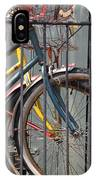 Blue And Yellow Bikes IPhone Case