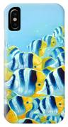 Blue And Yellow Fish IPhone Case