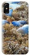 Seeing Blue At The Beach IPhone Case by Karen Zuk Rosenblatt