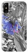 Blue Bell Flower IPhone Case