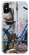 Blue Bicycle IPhone Case
