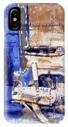 Blue Bike Abandoned India Rajasthan Blue City 2c IPhone Case