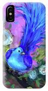 Blue Bird Christmas Wish IPhone Case