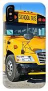 Blue Bird Vision School Bus IPhone Case