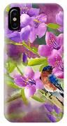 Blue Birds With Azalea IPhone Case
