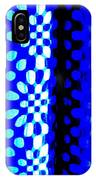 Blue Black Pattern Abstract IPhone Case