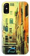 Blue Boat In Venice  IPhone Case