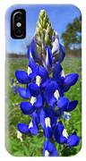 Blue Bonnet IPhone Case