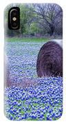 Blue Bonnets In Field IPhone Case