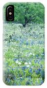 Blue Bonnets,poppies And Willow Tree 2 IPhone Case