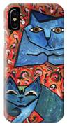 Blue Cats IPhone Case
