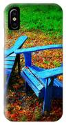 Blue Chairs IPhone Case