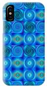 Blue Circles Abstract Art By Sharon Cummings IPhone Case