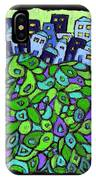 Blue City On A Hill IPhone Case