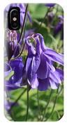 Blue Columbine IPhone Case