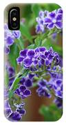 Blue Cottage Flowers IPhone Case