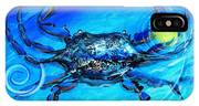Blue Crab Abstract IPhone Case