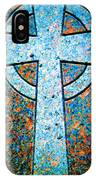 Blue Marbled Cross IPhone Case