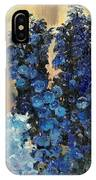 Blue Delphiniums For Nancy IPhone Case