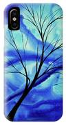 Blue Depth Abstract Original Acrylic Landscape Moon Painting By Megan Duncanson IPhone Case