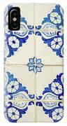 Blue Diamond Flower Tiles IPhone Case