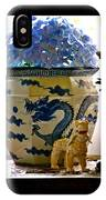 Blue Dragon And Hydrangeas IPhone Case