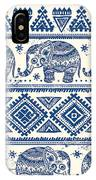 Blue Elephant With Ornaments Design IPhone Case