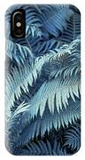Blue Fern Leaves Abstract. Nature In Alien Skin IPhone Case