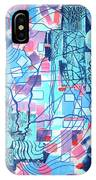 Blue Field Connections IPhone Case