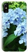 Blue Floral Hydrangea Flower Summer Garden Basle Troutman IPhone Case