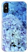 Blue Floral Hydrangreas Flowers Art Baslee Troutman IPhone Case
