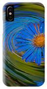 Blue Flower Whirlpool IPhone Case