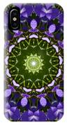 Blue Flowers Kaleidoscope IPhone Case