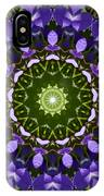 Blue Flowers Kaleidoscope IPhone Case