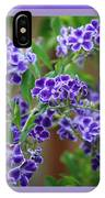Blue Flowers With Colorful Border IPhone Case